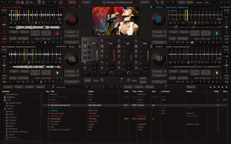 DJ Pro Mixer программа для диджея